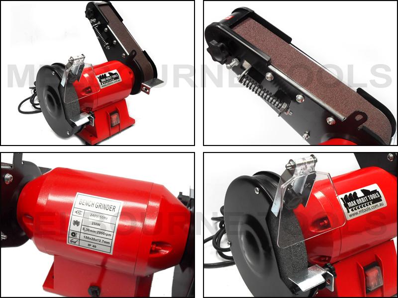 150mm 6 Quot Bench Grinder 50mm 2 Quot Linisher Belt Sander 250w